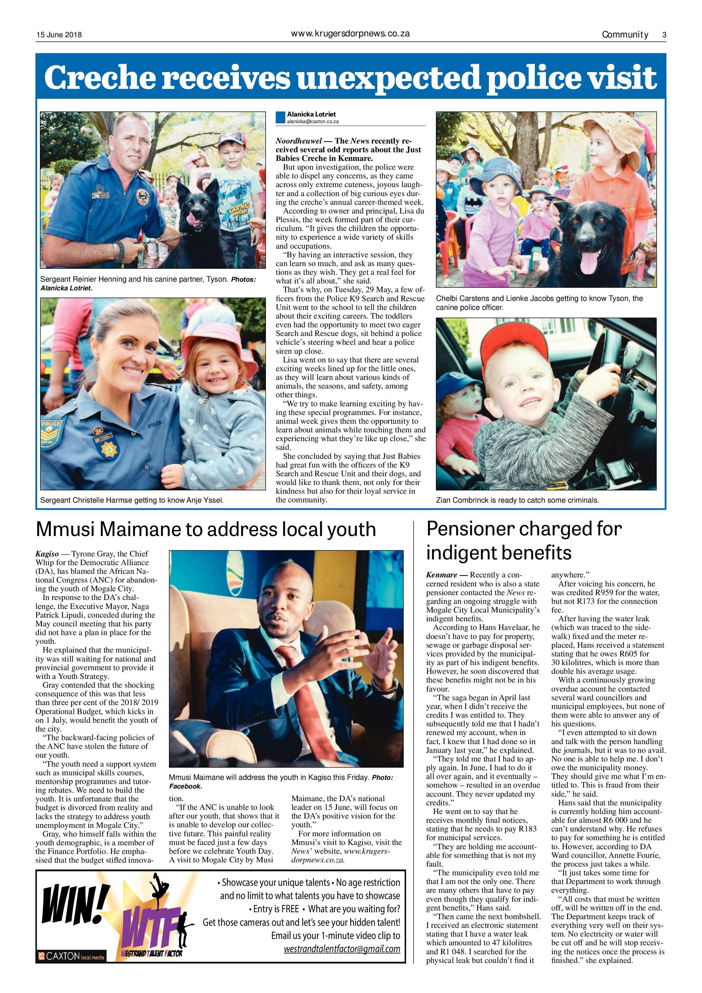 Krugersdorp News  Epapers Page 3